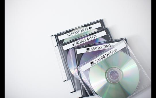 Originální kazeta s páskou Brother TZe-N231 - černý tisk na bílé, šířka 12 mm 4