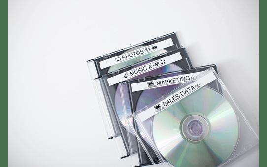 Original Brother TZe-N231 tape – sort på hvid, 12 mm bred 4