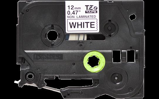 Originali Brother Tze-N231 ženklinimo juostos kasetė – juodos raidės baltame fone, 12 mm pločio