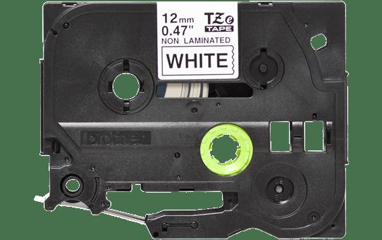Oriģinālā Brother TZe-N231 uzlīmju lentas kasete – melnas drukas, balta, 12mm plata