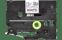 Oryginalna nielaminowana taśma TZe-N231 firmy Brother – czarny nadruk na białym tle, 12mm szerokości 2