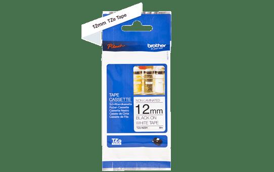 Brother TZe-N231 original etikett tapekassett- svart på vit olaminerad tape, 12 mm bred 2
