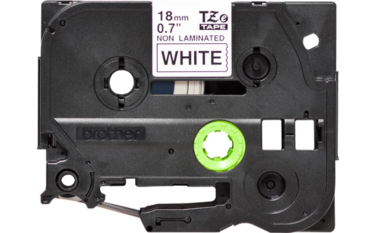 Genuine Brother TZe-N241 Labelling Tape Cassette – Black on White, 18mm wide 2