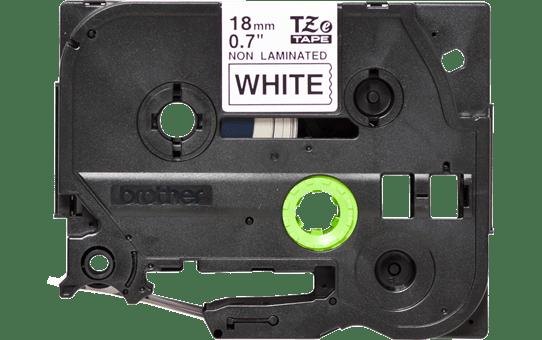 Brother TZeN241: оригинальная кассета с лентой для печати наклеек черным на белом фоне, 18 мм.