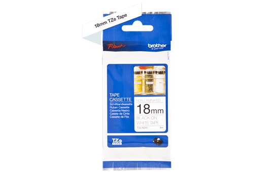 Genuine Brother TZe-N241 Labelling Tape Cassette – Black on White, 18mm wide 3