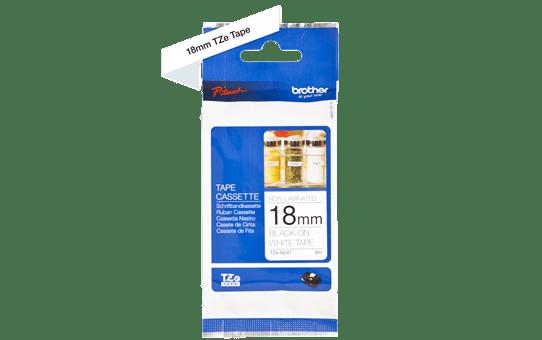 Cassette à ruban pour étiqueteuse TZe-N241 Brother originale – Noir sur blanc, 18mm de large 3