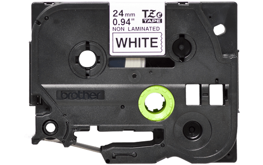 Genuine Brother TZe-N251 Labelling Tape Cassette – Black on White, 24mm wide 2