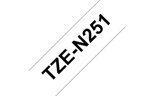 Genuine Brother TZe-N251 Labelling Tape Cassette – Black on White, 24mm wide