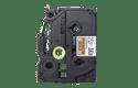 Oriģināla Brother TZe-PR831 uzlīmju lentes kasete – melnas drukas, zelta krāsas lente, 12mm plata  2