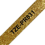 TZe-PR831 black on premium gold 12mm tape