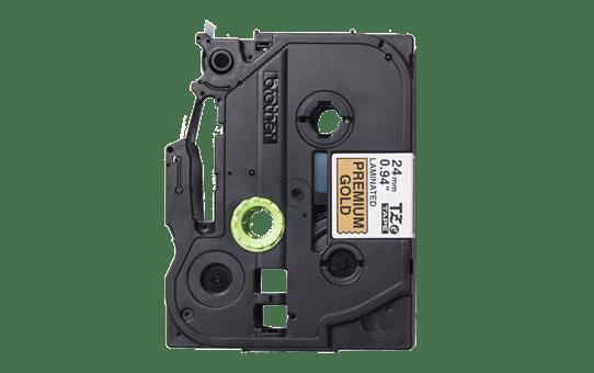 Alkuperäinen Brother TZePR851 -premium tarranauha – musta teksti kullanvärisellä pohjalla, 24 mm 2