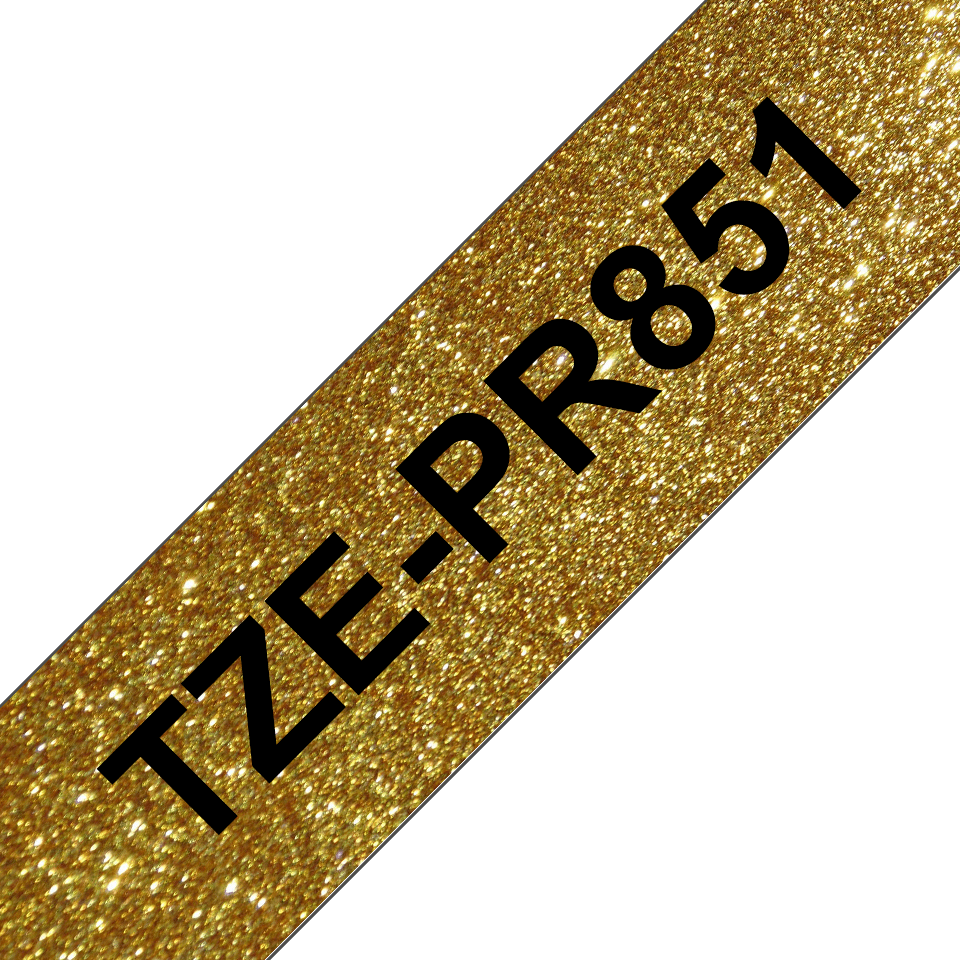 TZe-PR851 black on premium gold 24mm tape