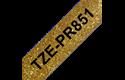 Genuine Brother TZe-PR851 Labelling Tape Cassette – Black On Premium Gold, 24mm wide
