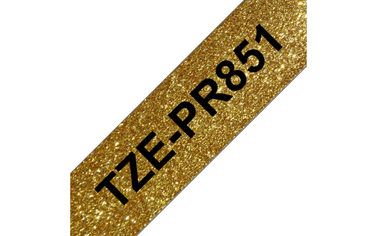 Brother TZe-PR851 Nastro originale - nero su oro glitter Premium, 24 mm di larghezza 3