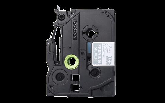 Genuine Brother TZe-PR935 Labelling Tape Cassette – White On Premium Silver, 12mm wide 2