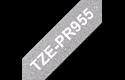 Brother TZe-PR955 Schriftband – weiß auf glitzersilber 3
