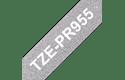 Brother TZe-PR955 Nastro originale - bianco su argento glitter Premium, 24 mm di larghezza 3