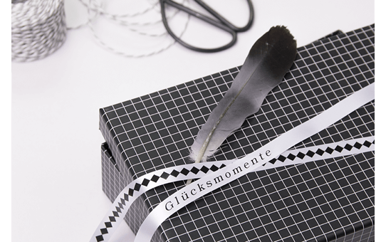 Genuine Brother TZe-R231 Ribbon Tape Cassette – Black on White, 12mm wide 2