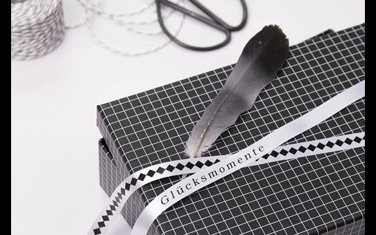 Brother original TZeR231 silkebånd - sort på hvitt, 12 mm bred 4