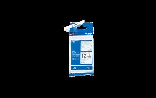 Original TZe-R231 Textilbandkassette von Brother – Schwarz auf Weiß, 12mm breit 3