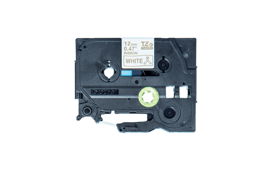 Casetă cu bandă decorativă originală Brother TZe-R234 – auriu pe alb de 12mm lățime 2