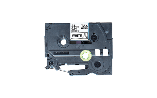 Originalt Brother TZeR251 silkebånd – sort på hvitt, 24 mm bred 4