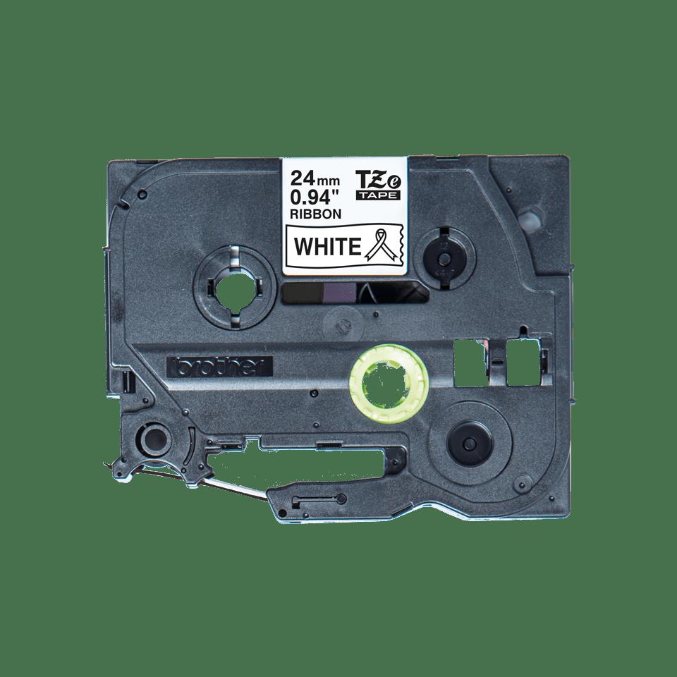 Alkuperäinen Brother TZeR251 -satiininauha – musta teksti valkoisella nauhalla, 24 mm 4