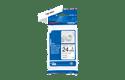 Originele Brother TZe-R251 lintcassette - zwart op wit, 24 mm breed 2