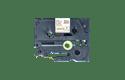 TZe-R254 - Cassette originale à ruban tissu - or sur blanc - pour étiqueteuse Brother - 24mm de large