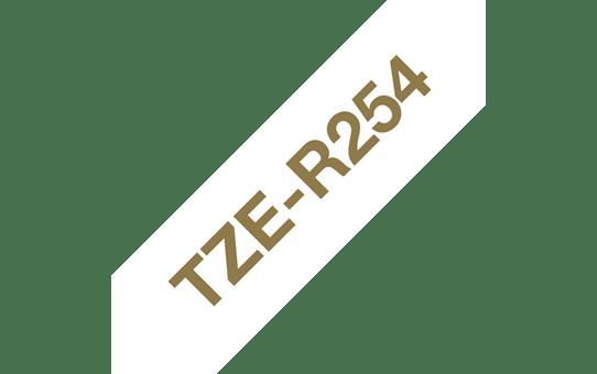 TZe-R254 - Cassette originale à ruban tissu - or sur blanc - pour étiqueteuse Brother - 24mm de large 3