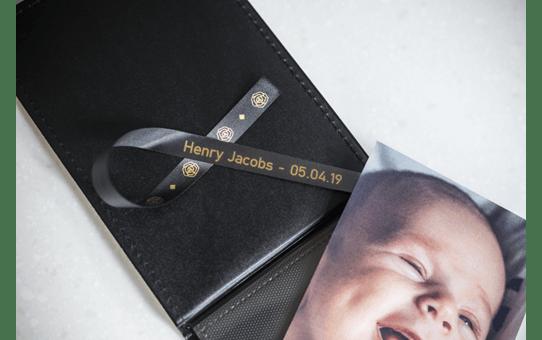 Genuine Brother TZe-R334 Ribbon Tape Cassette – Gold on Black, 12mm wide 4