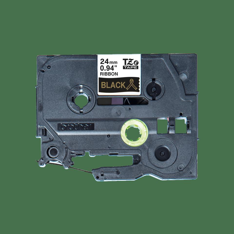 Оригинальная кассета с тканевой лентой TZe-R354 -золотой на черном, ширина 24 мм. 2