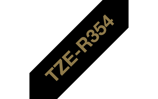 Originalt Brother TZeR354 silkebånd – gull på sort, 24 mm bred