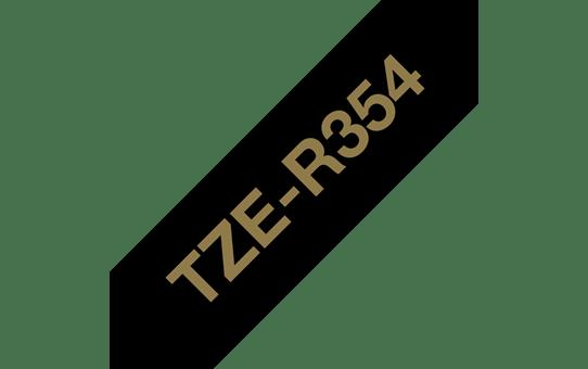 Brother TZe-R354 Textilband – gold auf schwarz 3