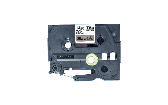 Originele Brother TZe-R931 lintcassette – zwart op zilver, 12 mm breed 2