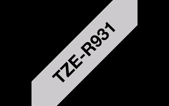 Originální pásková kazeta Brother TZe-R931 - černý tisk tisk na stříbrné, šířka 12 mm