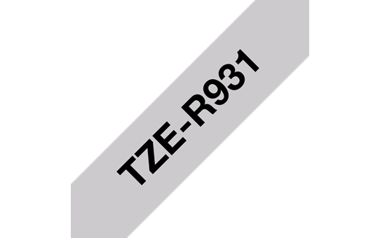Originele Brother TZe-R931 lintcassette – zwart op zilver, 12 mm breed
