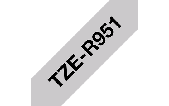 Genuine Brother TZe-R951 Ribbon Tape Cassette – Black on Silver, 24mm wide