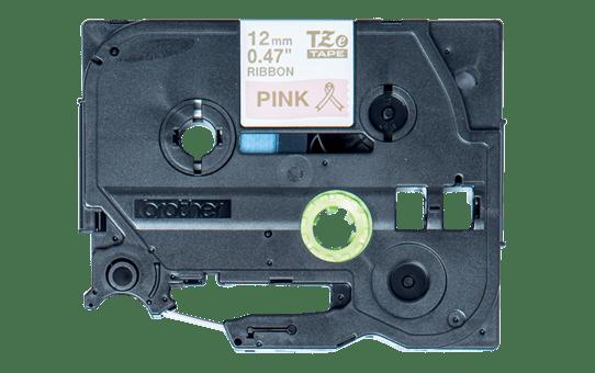 Brother TZe-RE34 Nastro in tessuto originale  – Oro su rosa, 12 mm di larghezza