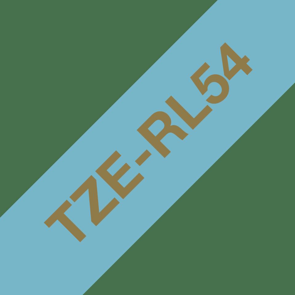 TZe-RL54 24mm gold on light blue TZe ribbon