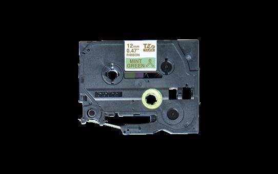 Originální pásková kazeta Brother TZe-RM34 - zlatý tisk na mátové, šířka 12 mm