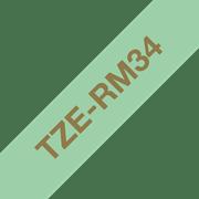 Brother P-touch TZeRM34 gull på mintgrønt 12 mm bredt silkebånd