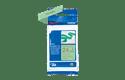 TZe-RM54 - Cassette originale à ruban tissu - or sur vert menthe - pour étiqueteuse Brother - 24mm de large 2