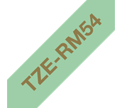 Genuine Brother TZe-RM54 Ribbon Tape Cassette – Gold on Mint Green, 24mm wide