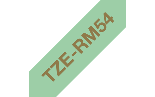 Originalt Brother TZeRM54 silkebånd – gull på mintgrønt, 24 mm bred 6