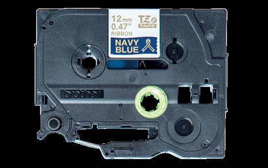Brother original TZeRN34 silkebånd - gull på marineblått, 12 mm bred 8