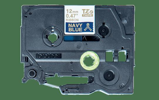 Brother TZe-RN34 original  satinband – guldtext på blå botten, 12 mm bred 3