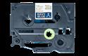 Oryginalna taśma wstążkowa TZe-RN34 firmy Brother – złoty nadruk na granatowym tle, 12 mm szerokości 3