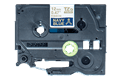 Original TZe-RN34 Textilbandkassette von Brother – Gold auf Marineblau, 12mm breit 3