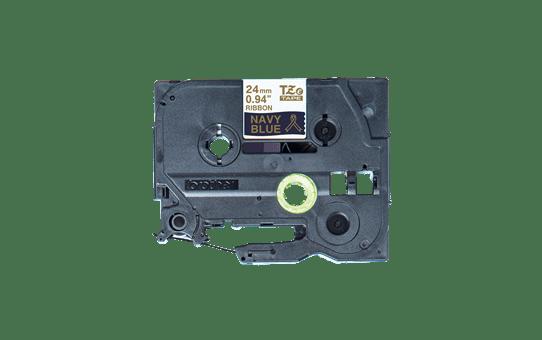 Originální pásková kazeta Brother TZe-RN54 - zlatý tisk na tmavě modré, šířka 24 mm 2